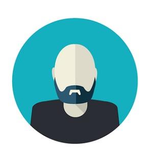 Bald guy with goatee