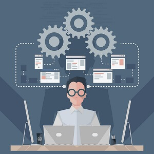 Nerdy software engineer resume photo
