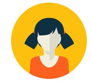 head of a web developer woman