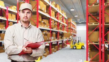 Warehouse Worker in warehouse.