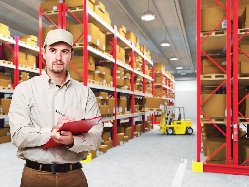 Warehouse Worker in warehouse.