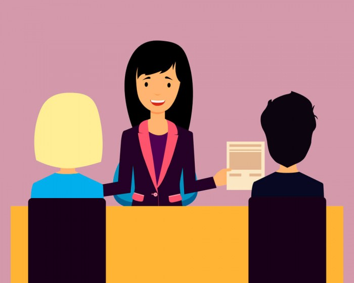 event coordinator and clients animation