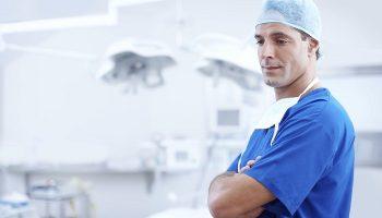 doctor dressed in scrubs