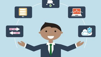 illustration of data scientist