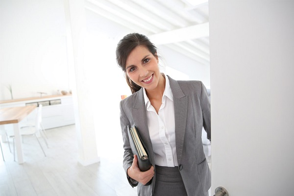 real estate agent smiling