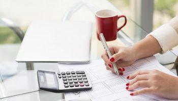 tax preparer doing taxes